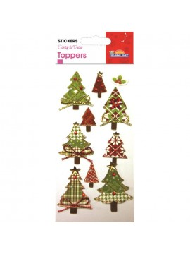 TOPPER CHRISTMAS STICKERS 8X12CM 510029