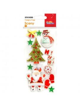 SCENY CHRISTMAS STICKERS 8X12CM 540010