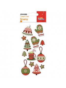 SCENY CHRISTMAS STICKERS 8X12CM 540026