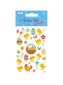 CLUB DECO EASTER STICKERS 8X12CM 115706