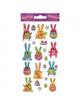 *STYLUP EASTER STICKERS 9X17.5CM 280401