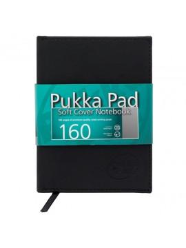 ΤΕΤΡΑΔΙΟ A6 ΜΑΥΡΟ ΕΞΩΦΥΛΛΟ ΣΚΛΗΡΟ 160ΣΕΛ. 100 GSM PUKKA*