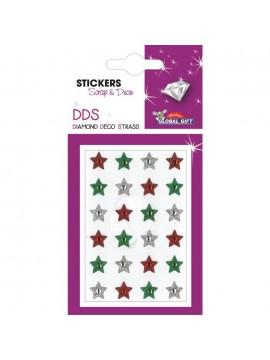 DDS DIAMOND DECO STRASS CHRISTMAS STICKERS 8X12CM 160544*