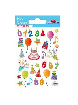 MINI *CLASSY STICKERS 7X10CM 108161