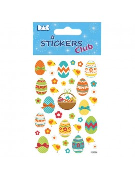 CLUB DECO EASTER STICKERS 8X12CM 115704