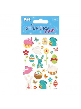 CLUB DECO EASTER STICKERS 8X12CM 115705