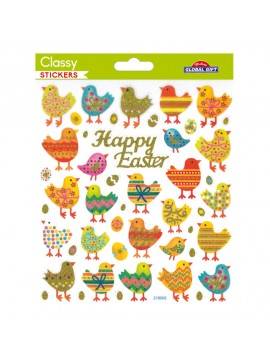 CLASSY EASTER STICKERS 15X17CM 218005