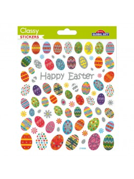 CLASSY EASTER STICKERS 15X17CM 218006