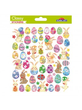 CLASSY EASTER STICKERS 15X17CM 219016