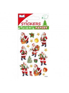 PAPERY CHRISTMAS STICKERS 8X13CM 145520