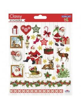 CLASSY CHRISTMAS STICKERS 15X17CM 224502
