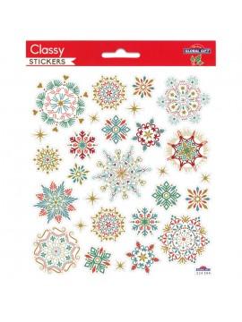 CLASSY CHRISTMAS STICKERS 15X17CM 224504