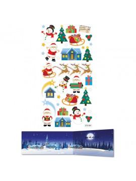 TWEENY DECOR CHRISTMAS STICKERS 9X17.5CM 272501