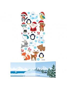 TWEENY DECOR CHRISTMAS STICKERS 9X17.5CM 272502