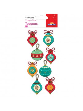 TOPPER CHRISTMAS STICKERS 8X12CM 510050