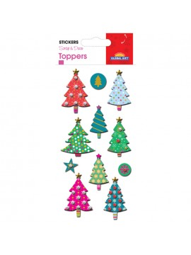 TOPPER CHRISTMAS STICKERS 8X12CM 510051