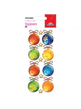 TOPPER CHRISTMAS STICKERS 8X12CM 510058