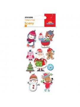 SCENY CHRISTMAS STICKERS 8X12CM 540034