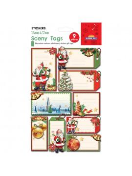 SCENY TAG CHRISTMAS STICKERS 14X12CM 540101