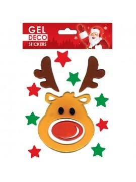 CHRISTMAS GEL STICKERS 13X17CM GN33