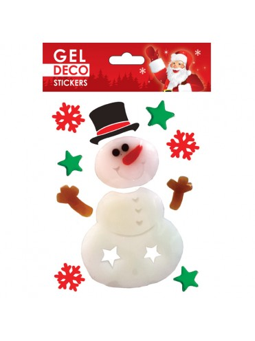 CHRISTMAS GEL STICKERS 13X17CM GN46