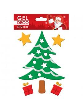 CHRISTMAS GEL STICKERS 13X17CM GN79