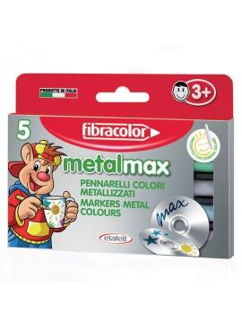 ΜΑΡΚΑΔΟΡΟΙ METAL MAX 5 ΧΡΩΜΑΤΩΝ FIBRACOLOR