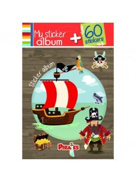 PAPERY ALBUM BOY 15 X 18CM ΜΕ 60 STICKERS