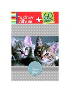 PAPERY ALBUM CATS 15 X 18CM ΜΕ 60 STICKERS