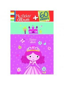 PAPERY ALBUM GIRL 15 X 18CM ΜΕ 60 STICKERS