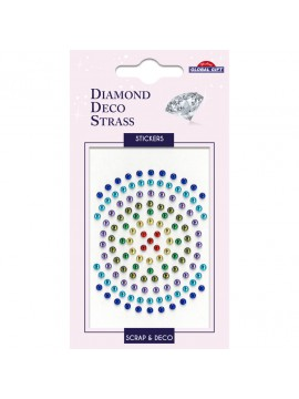 DDS DIAMOND DECO STRASS STICKERS 8X12CM 160087