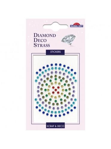 DDS DIAMOND DECO STRASS STICKERS 8X12CM 160087*
