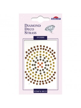 DDS DIAMOND DECO STRASS STICKERS 8X12CM 160088