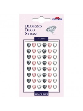 DDS DIAMOND DECO STRASS STICKERS 8X12CM 160094