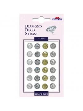 DDS DIAMOND DECO STRASS STICKERS 8X12CM 160099