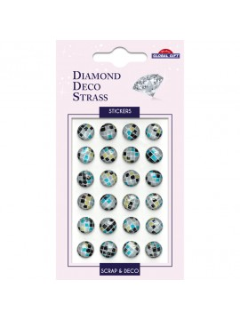 DDS DIAMOND DECO STRASS STICKERS 8X12CM 160108