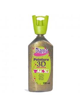 ΧΡΩΜΑΤΑ 3D DIAM'S 100ML GLITTER GOLD