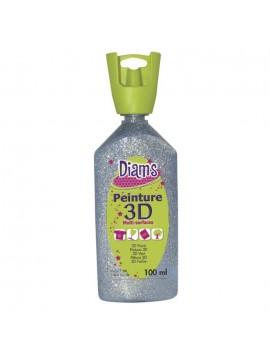 ΧΡΩΜΑΤΑ 3D DIAM'S 100ML GLITTER SILVER