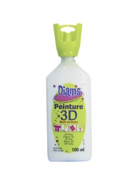 ΧΡΩΜΑΤΑ 3D DIAM'S 100ML GLOSSY WHITE