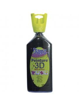 ΧΡΩΜΑΤΑ 3D DIAM'S 100ML GLOSSY BLACK