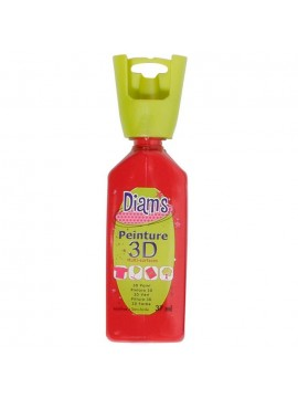 ΧΡΩΜΑΤΑ 3D DIAM'S 37ML BRILLIANT DEEP RED