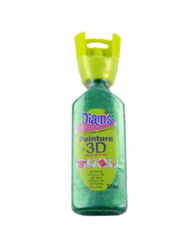 ΧΡΩΜΑΤΑ 3D DIAM'S 37ML GLITTER GREEN