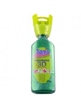 ΧΡΩΜΑΤΑ 3D DIAM'S 37ML GLITTER GREEN