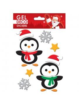 CHRISTMAS GEL STICKERS 13X17CM GN80