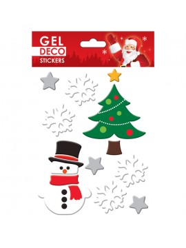 CHRISTMAS GEL STICKERS 13X17CM GN81