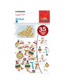 EMBEL *CHRISTMAS STICKERS 8X11CM 550035