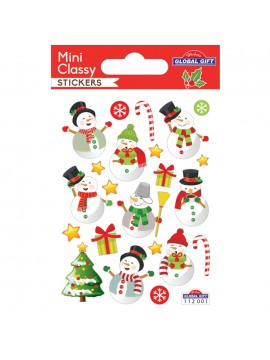 MINI *CLASSY CHRISTMAS STICKERS 7.5X10CM 112001