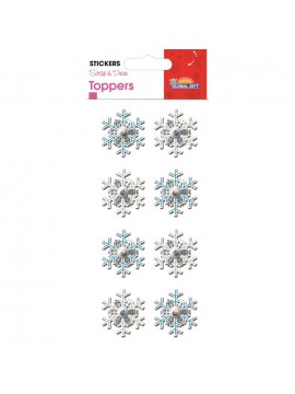 TOPPER *CHRISTMAS STICKERS 8X12CM 510045