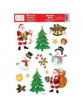 WINDOW CHRISTMAS STICKERS 20X30CM W30548