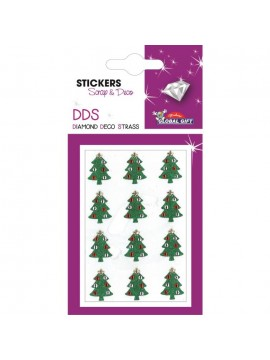 DDS *DIAMOND DECO STRASS CHRISTMAS STICKERS 8X12CM 160545